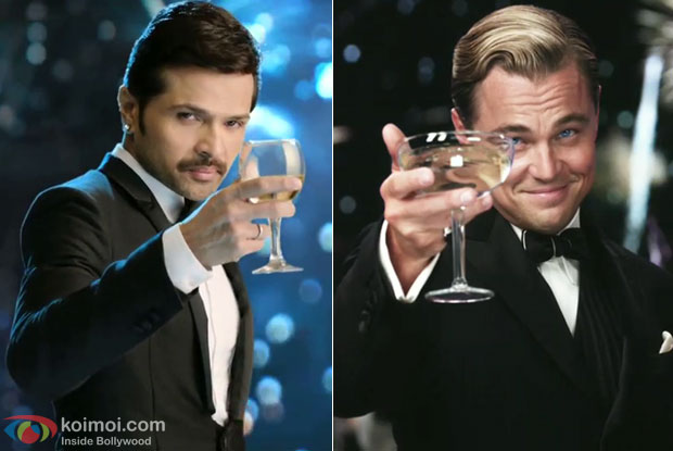 Himesh Reshammiya in a still from movie 'The Xpose' and Leonardo DiCaprio in a still from movie 'The Great Gatsby'