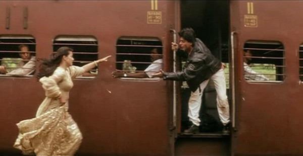 Kajol and Shah Rukh Khan in a still from movie 'Dilwale Dulhania Le jayenge'