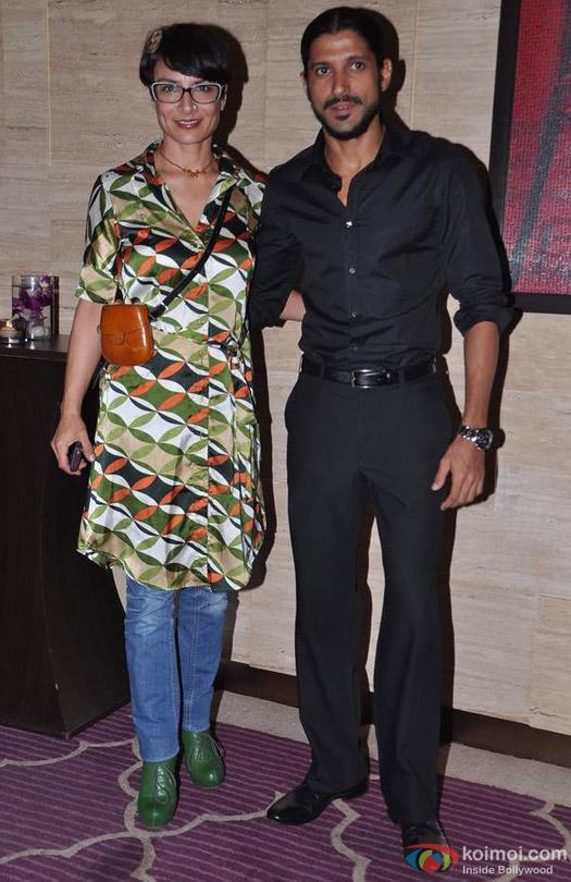 Adhuna Akhtar and Farhan Akhtar