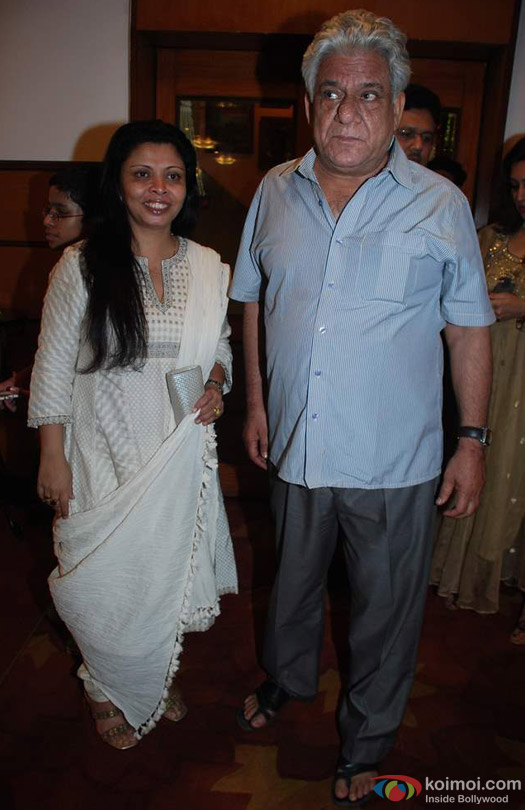Om Puri and Nandita Puri