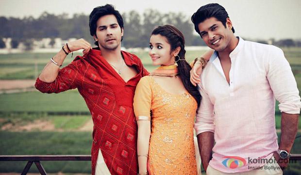 Varun Dhawan, Alia Bhatt and Siddharth Shukla in a still from movie 'Humpty Sharma Ki Dulhania'