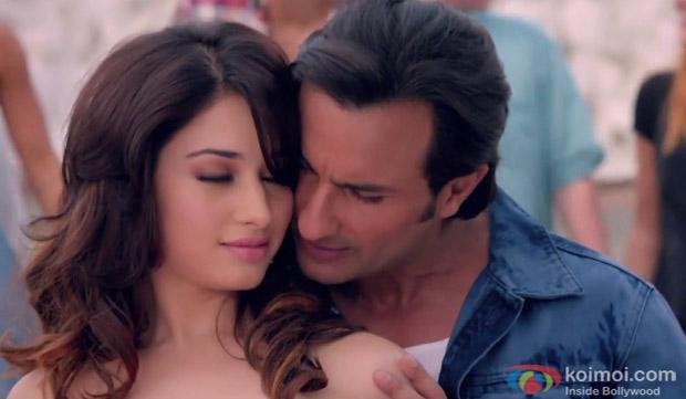 Tamannah Bhatia and Saif Ali Khan in a 'Caller Tune' Song still from movie 'Humshakals'