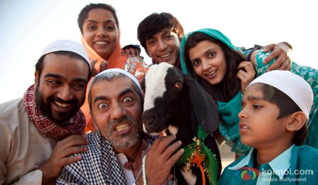 Asif Basra and Anshuman Jha in a still from movie 'Yeh Hai Bakrapur'