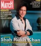 Buoyant Shah Rukh Khan On Paris Match Cover