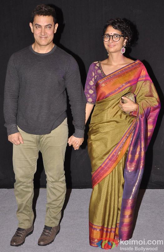 Aamir Khan Arrives At 'Star Parivar Awards' 2014
