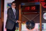 Amitabh Bachchan Hits The Gong At Promotion Of TV Serial 'Yudh' At Mumbai's Bombay Stock Exchange