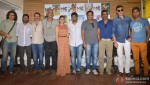 Imtiaz Ali, Nishikant Kamath, Rajkumar Hirani, Sudhir Mishra, Aditi Rao Hydari, Anurag Kashyap, Suneil Shetty, Aditya Pancholi, Raj Kumar Rao At The Launch Of 'Mukesh Chhabra Casting Company'