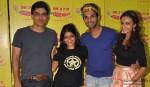 Manav Kaul, Patralekha and Rajkumar Rao At Radio Mirchi Office