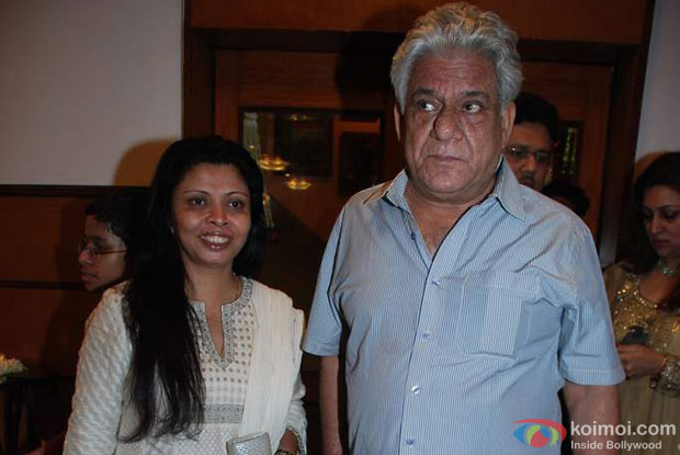 Nandita Puri and Om Puri