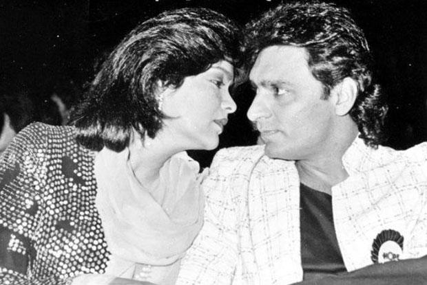 Zeenat Aman and Mazhar Khan