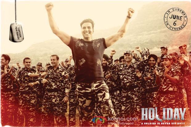 Akshay Kumar in a still from movie 'Holiday'