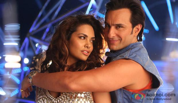 Esha Gupta and Saif Ali Khan in a still from movie 'Humshakals'