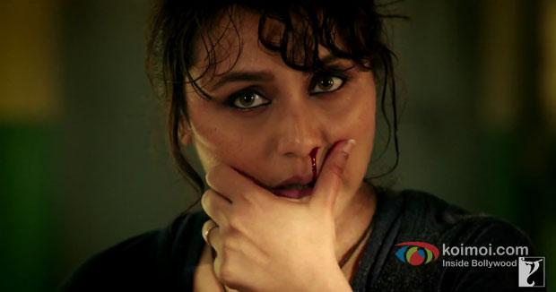Rani Mukerji in a still from movie 'Mardaani'