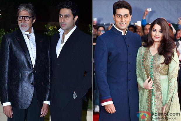Abhishek Bachchan with Amitabh Bachchan and Aishwarya Rai Bachchan