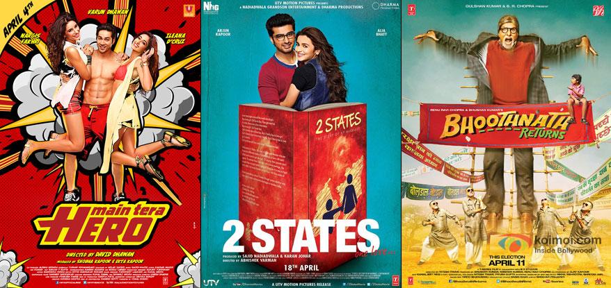 Main Tera Hero, 2 States and Bhoothnath Returns Movie Poster