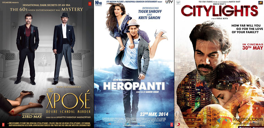 The Xpose, Heropanti and Citylights Movie Poster