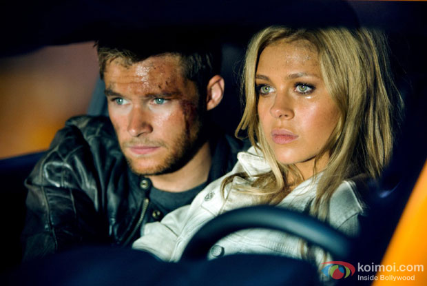 Nicola Peltz and Jack Reynor in a still from movie 'Transformers: Age of Extinction'