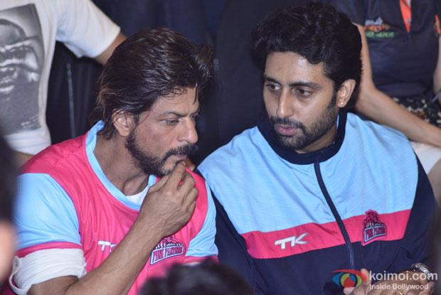 Shah Rukh Khan Support Abhishek's Jaipur Pink Panthers