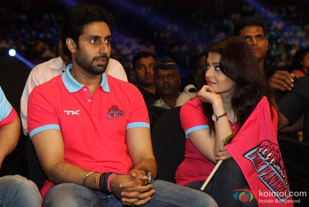 Wife Aishwarya Rai Bachchan Support Abhishek's Bachchan Jaipur Pink Panthers