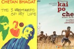 Film Kai Po Che is based on Chetan Bhagat's novel 'The Three Mistakes Of My Life'