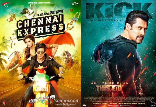 Chennai Express and Kick Movie Poster