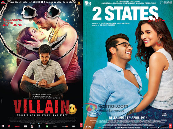 Ek Villain and 2 States Movie Poster