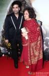 Karan Johar & Hiroo Johar At The Premiere Of Lekar Hum Deewana Dil
