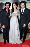 Shah Rukh Khan, Deeksha Seth, Armaan Jain At The Premiere Of Lekar Hum Deewana Dil