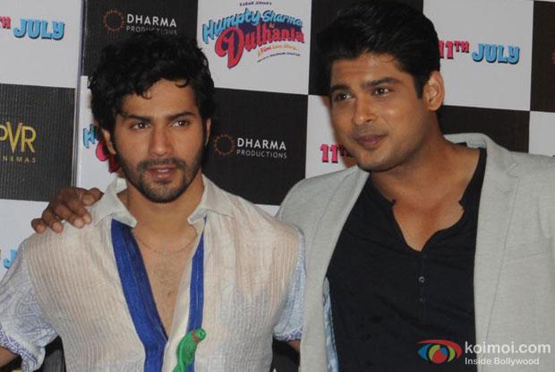 Varun Dhawan and Siddharth Shukla