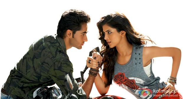 Armaan Jain and Deeksha Seth in a still from movie 'Lekar Hum Deewana Dil'