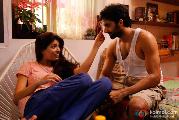 Parvathy Omanakuttan and Akshay Oberoi in a still from movie 'Pizza'