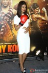 Priyanka Chopra Poses With A Boxing Glove At Mary Kom Trailer Launch