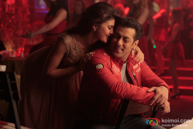 Jacqueline Fernandez and Salman Khan in a still from movie 'Kick'