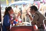 Kareena Kapoor and Ajay Devgn in Singham Returns Movie Stills