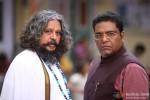 Amol Gupte and Zakir Hussain in Singham Returns Movie Stills