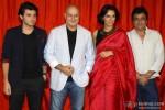 Divyendu Sharma, Anupam Kher, Neha Dhupia and Manu Rishi Chadha during the trailer launch of movie 'Ekkees Toppon Ki Salaami'