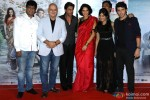 Rajesh Sharma, Anupam Kher, Shah Rukh Khan, Neha Dhupia, Aditi Sharma, Manu Rishi Chadha and Divyendu Sharma during the trailer launch of movie 'Ekkees Toppon Ki Salaami'