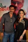 Ajay Devgn and Kareena Kapoor during the press meet of 'Singham Returns' in Kolkata Pic 1
