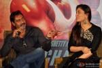 Ajay Devgn and Kareena Kapoor during the press meet of 'Singham Returns' in Kolkata Pic 3