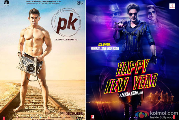 PK and Happy New Year Poster