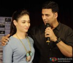 Tamannaah And Akshay Kumar In Bangalore To Promote 'Entertainment'