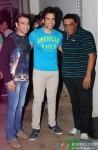 Farhad, Tusshar Kapoor, Sajid at the special screening of 'Entertainment'