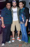 Sajid, Varun Dhawan, Farhad at the special screening of 'Entertainment'