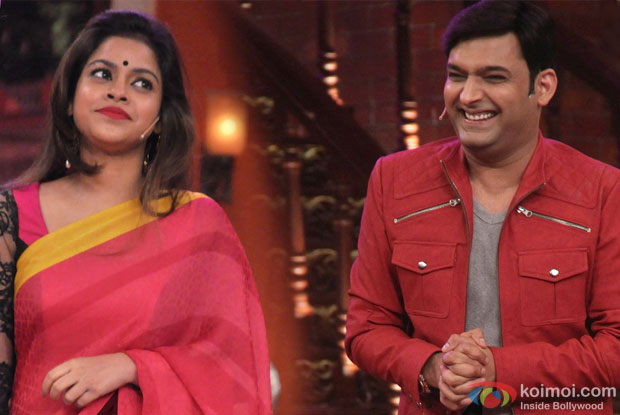 Sumona Chakravarti and Kapil Sharma in a still from 'Comedy Nights With Kapil'