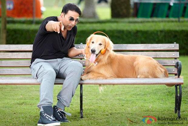Akshay Kumar in a still from movie 'Entertainment'