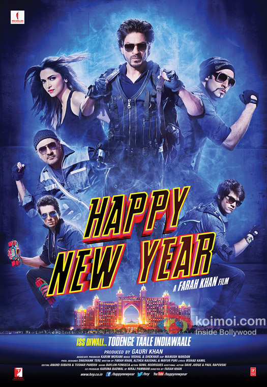 Shah Rukh Khan in a 'Happy New Year' Movie Poster