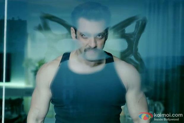 Salman Khan in a still from movie 'Kick'