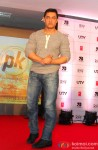 Aamir Khan during the Launch of 2nd Poster Of PK Pic 1