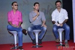 Vidhu Vinod Chopra, Aamir Khan and Rajkumar Hirani during the Launch of 2nd Poster Of PK Pic 2