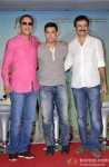 Vidhu Vinod Chopra, Aamir Khan and Rajkumar Hirani during the Launch of 2nd Poster Of PK Pic 3